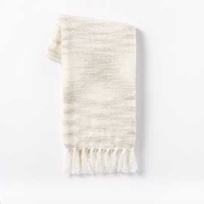 "Coziest Space Dye Throw, 44""x56"", White - West Elm"