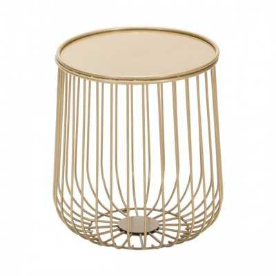 Gilbert Side Table Gold - Zuri Studios