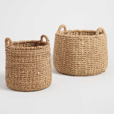 Natural Hyacinth Noelle Tote Baskets - Medium by World Market Medium - World Market/Cost Plus