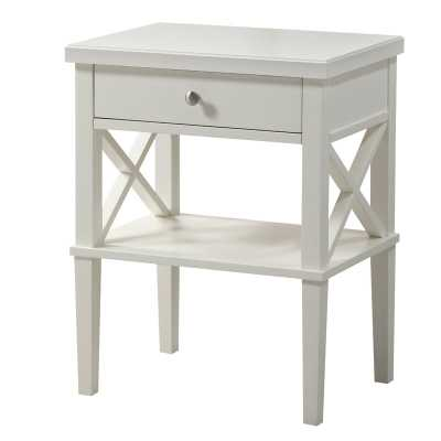 Silvestri 1 Drawer Nightstand, White - Wayfair