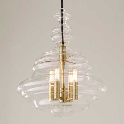CRAFTED GLASSWARE CHANDELIER - SMALL - Shades of Light