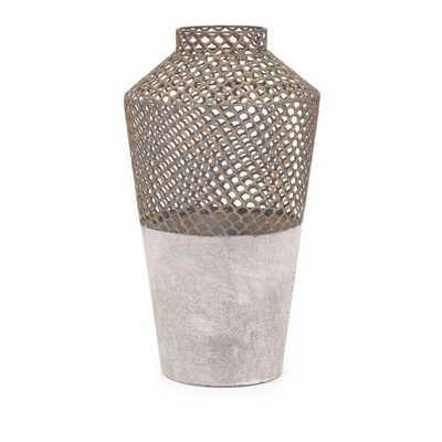 Rowan Large Metal Vase - Mercer Collection