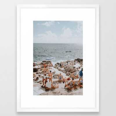 "capri, italy Framed Art Print - 20"" X 26""  scoop white - Society6"