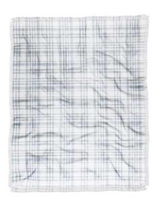 WINTER WATERCOLOR PLAID BLUE Throw Blanket - Wander Print Co.