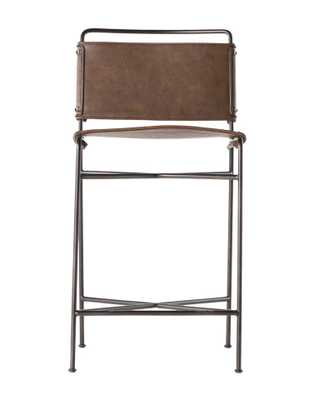 MOORE COUNTER STOOL, DISTRESSED BROWN - McGee & Co.