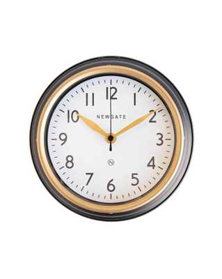 MINI NORFOLK WALL CLOCK IN MATTE BLACK - McGee & Co.