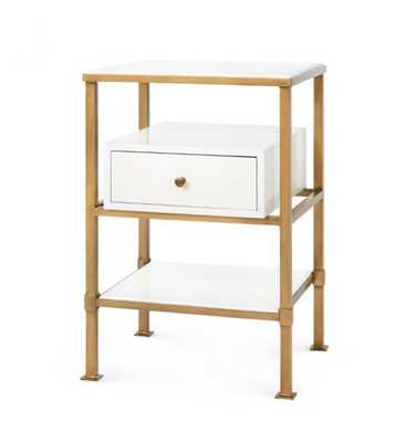 MARCEL 1-DRAWER SIDE TABLE, WHITE - Bungalow 5