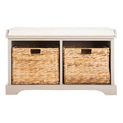 Alonza Pine Wood Storage Bench - Birch Lane
