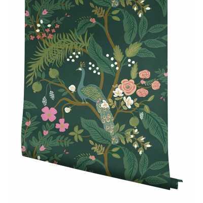 """Peacock 27' x 27"""" Wallpaper Roll - Wayfair"""