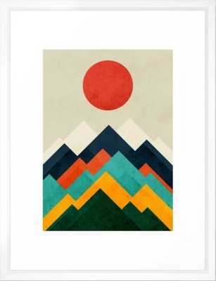 The hills are alive Framed Art Print - Society6