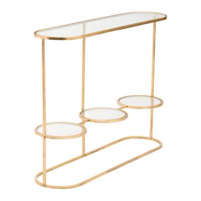 Aron Console Table Gold - Zuri Studios