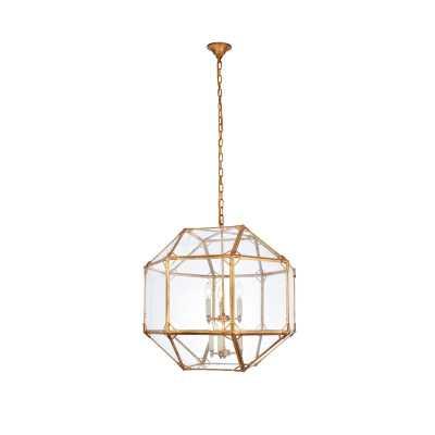 Puccio 6-Light Geometric Chandelier Golden iron - Wayfair