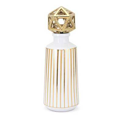 Loretta Large Bottle with Stopper - Mercer Collection