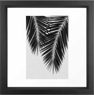 Palm Leaf Black & White II Framed Art Print - Society6