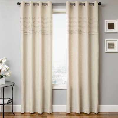 Canvas Solid Semi Sheer Single Curtain Panel - Wayfair