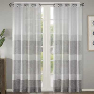 Augustus Striped Grommet Single Curtain Panel - Wayfair