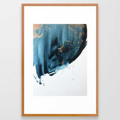 Sapphire and Gold Abstract Framed Art Print - Society6