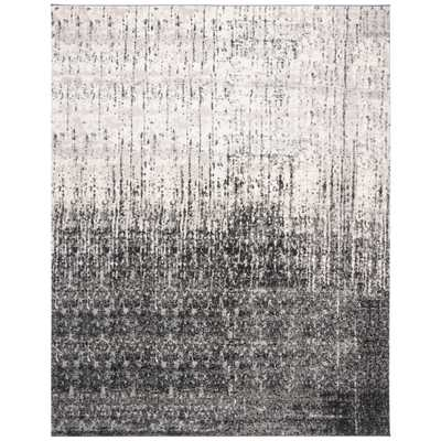 Safavieh Retro Mid-Century Modern Abstract Black/ Light Grey Distressed Rug - 8' x 10' - Overstock