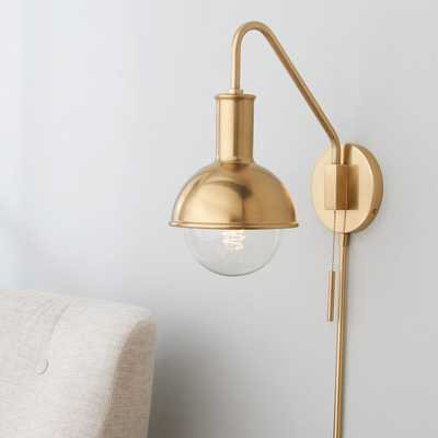 CAP AND GLOBE SWING ARM WALL SCONCE - Shades of Light