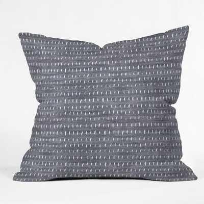 """BOGO DENIM RAIN LIGHT Throw Pillow - 20"""" x 20"""" - Pillow Cover Only - Wander Print Co."""