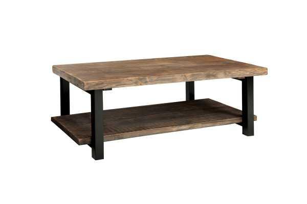 """Veropeso 42"""" Wood/Metal Coffee Table - Wayfair"""