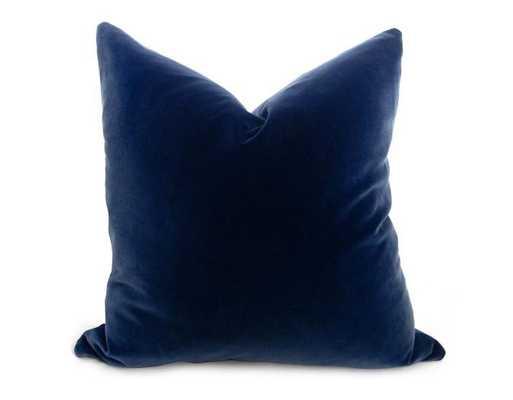 """Velvet Pillow Cover - Navy - 22"""" - Willa Skye"""