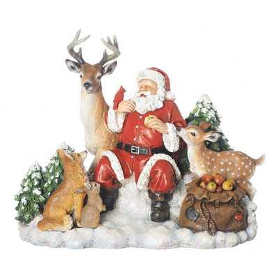 "10.5"" Santa with Animals Figurine - Roman - Target"