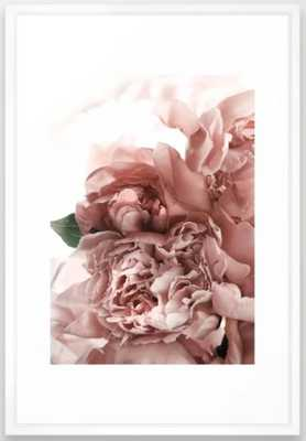 Blush Pink Floral Framed Art Print (vector white) 26 x 38 - Society6