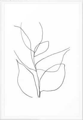 "Minimalist Line Art Plant - 26"" x 38"" - Society6"