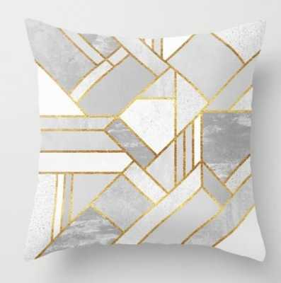 Gold City Throw Pillow - Society6