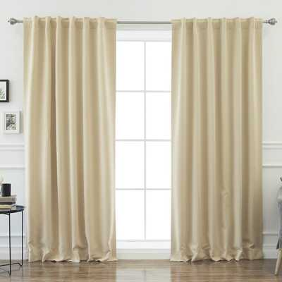 Sweetwater Room Darkening Solid Thermal Curtain Panels (Set of 2) - Wayfair