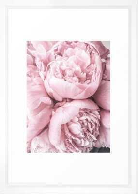 Lush Peony Flower I 20x26 framed - Society6