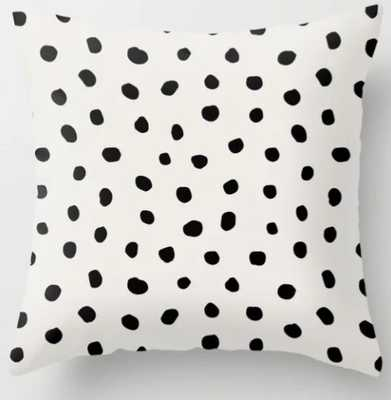 "Modern Polka Dots Black on Light Gray Throw Pillow - 18""x18"" - Society6"