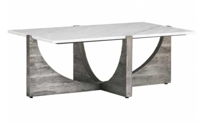 Arctic Cocktail Table, White - High Fashion Home