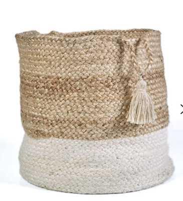 Hand-Crafted Natural Jute Basket by Mistana - Wayfair