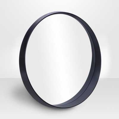 "PARSONS Round Slope Mirror - Black 28"" - Home Depot"