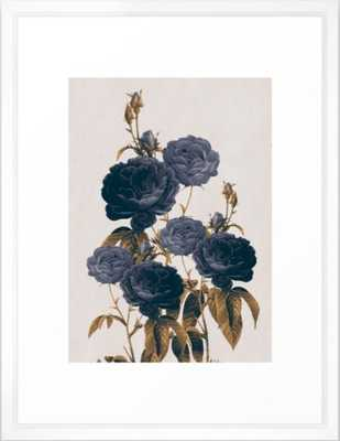 blue flowers Framed Art Print - Society6