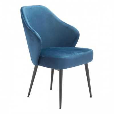 Savon Dining Chair Navy Velvet - Zuri Studios