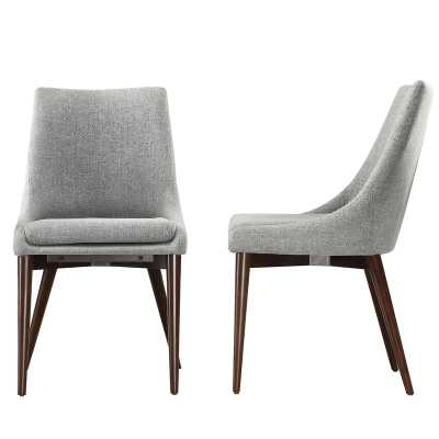 Blaisdell Linen Upholstered Side Chair (Set of 2) - Wayfair