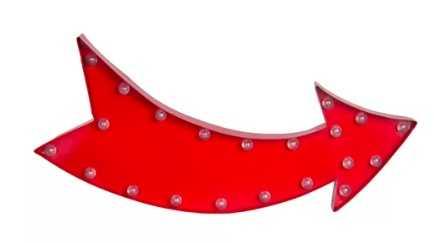 Curved Arrow LED Marquee Sign - Wayfair