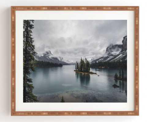 """Maligne Lake - Bamboo Frame - 14"""" x 16.5"""" - Wander Print Co."""