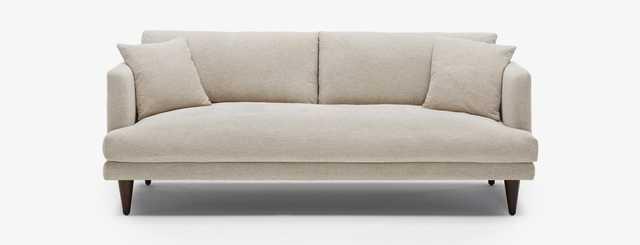 Lewis Mid Century Modern Sofa - Merit Dove - Mocha - Cylinder Legs - Joybird