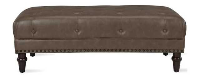 Alcott Hill Luciano Tufted Cocktail Ottoman: Taupe - Wayfair