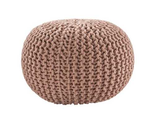Spectrum Pouf Textured Blush Round Pouf - Collective Weavers