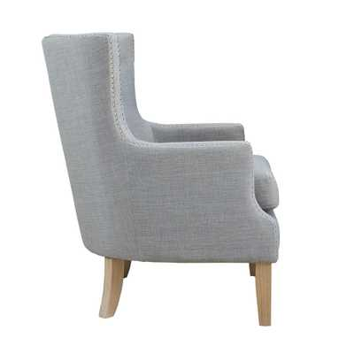 Fanny Gray Upholstered Accent Chair - Home Depot