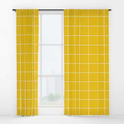 Sunshine Grid Window Curtains - Single Panel - Society6
