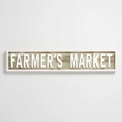 Farmer's Market Wood Sign: White by World Market - World Market/Cost Plus
