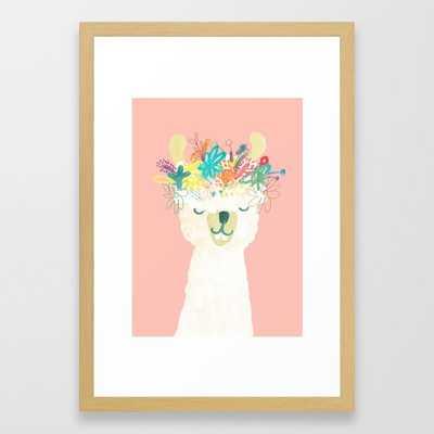 Llama Goddess Framed Art Print - Society6