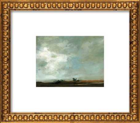 """Time Stands Still - 14"""" x 11"""" - Gold Crackle Bead Wood Frame - With Matte - Artfully Walls"""