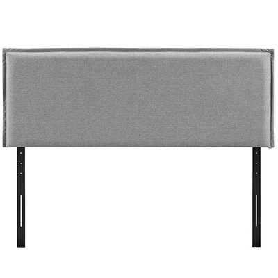CAMILLE KING FABRIC HEADBOARD IN LIGHT GRAY - Modway Furniture